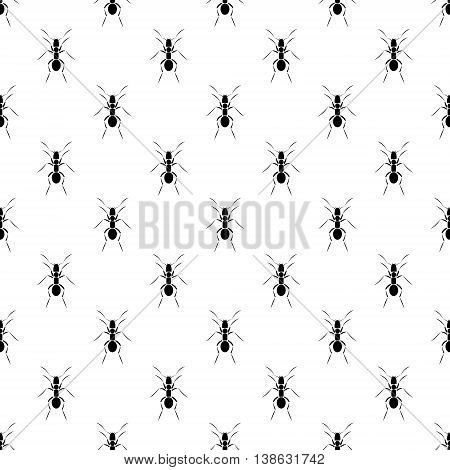 Seamless Vector Pattern With Insects, Ants