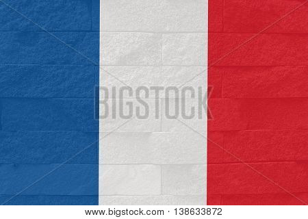 stronger French , pray for French , pray for Nice French flag on rock meaning stronger