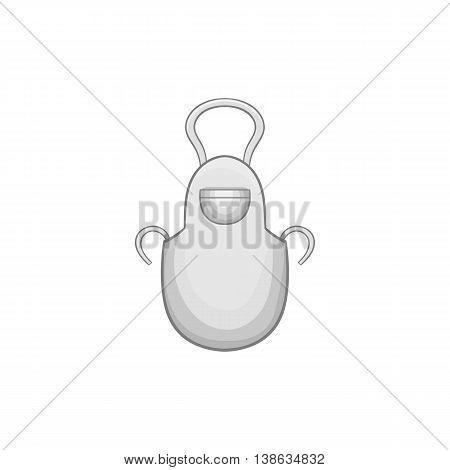 White apron icon in cartoon style on a white background