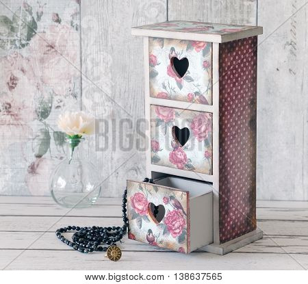 A Shabby Chic Mini Chest Of Drawers