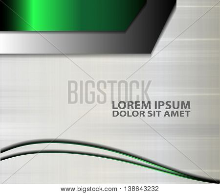 Green abstract background vector. Background concept design for brochure or flyer, abstract vector illustration