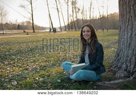 Woman Relaxing At The Park