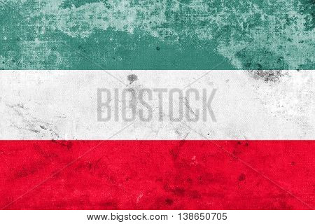 Flag Of Gorzow Wielkopolski, Poland, With A Vintage And Old Look
