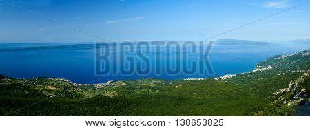 View on the Podgora Tucepi and Makarska from Biokovo