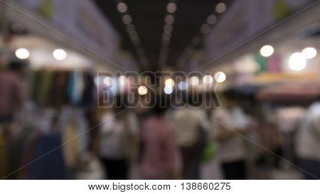 People Shopping In Exhibiton Trade Fair - Blur