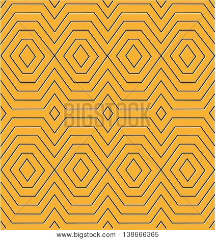 Egyptian diamond pattern in line art with white shadow