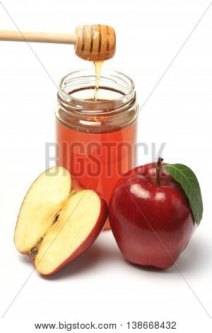 Apple and honey - traditionally eaten in jewish new year's eve as a symbol to a sweet new year.