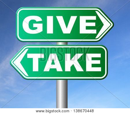 give take to charity and make a contribution or donation altruism and generous giving and donate cheap grudging volunteering 3D illustration, isolated