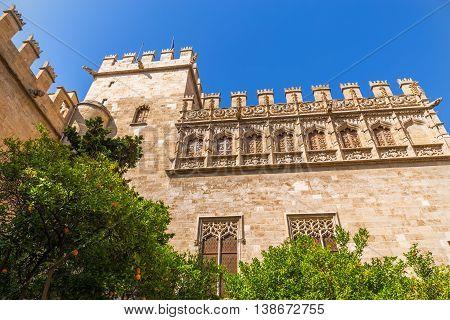 Old Silk Exchange (lonja De La Seda), Valencia, Spain. Unesco World Heritage Site.