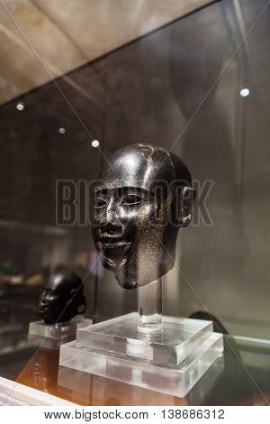 Head Of Male Statue In Museo Egizio In Turin