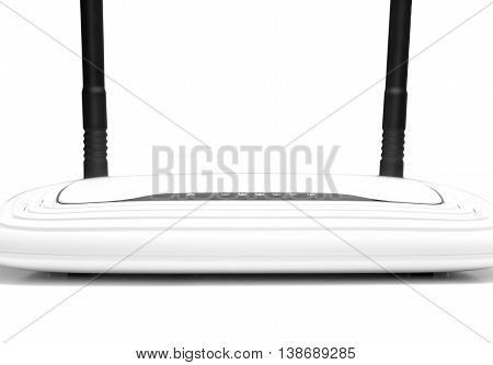 Wifi router isolated on a white background.