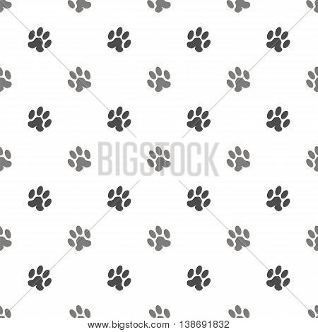 Seamless Cat Animal Paw Pattern. Print of Paw Background
