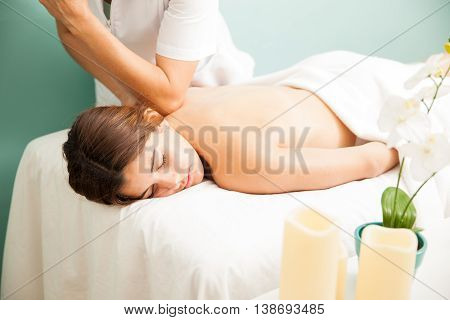 Woman Getting Pampered At A Spa