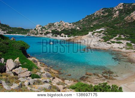 Cala Corsara, elected most beautiful beach of Italy. Sardinia