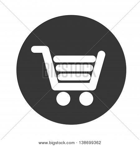 shopping cart icon vector advertising buy market
