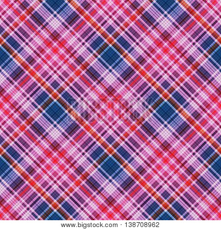 Checkered seamless pattern of interwoven multicolored thin strips. Motley abstract symmetrical pattern. Template for fabrics, wallpaper. Vector eps10