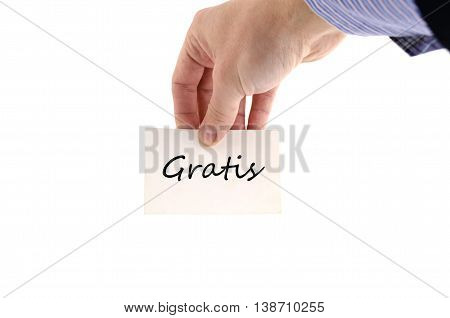 Gratis (Thank You)  text concept isolated over white background
