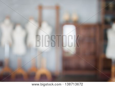 Abstract blur mannequins fashion model, stock photo