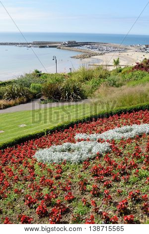 View from seafront garden in Lyme Regis Dorset