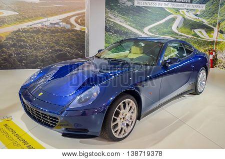 MARANELLO, ITALY - OCTOBER, 12 2013: Ferrari Sport Car into the Ferrari Museum