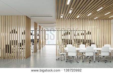 Open Office With Meeting Area