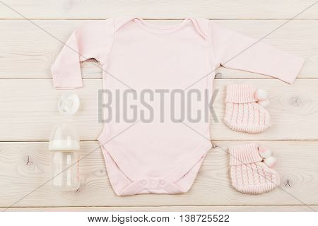 Baby Girl Outfit And Dummies
