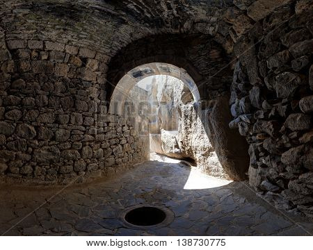 View From A Grotto In The Ancient Armenian Temple Complex Geghard