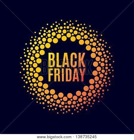 Black Friday Sale. Halftone Dots
