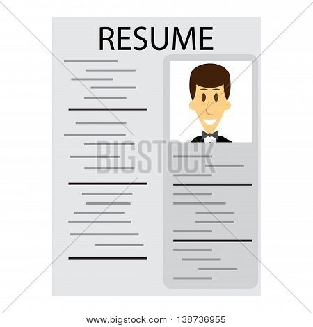 Resume for employment. Cv and resume template job interview and curriculum vitae. Vector illustration