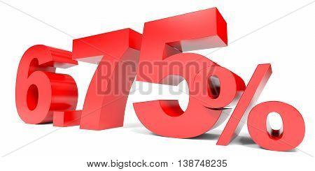 Red Six Point Seven Five Percent Off. Discount 6.75 Percent.