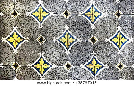 Traditional german ceramic tiles in a pattern