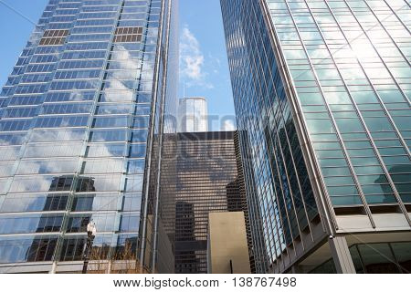 CHICAGO, IL - CIRCA MARCH, 2016: buildings in Chicago at daytime. Chicago is the third most populous city in the United States.