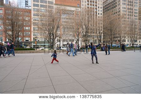 CHICAGO, IL - CIRCA MARCH, 2016: Millennium Park in the daytime. Millennium Park is a public park located in the Loop community area of Chicago in Illinois