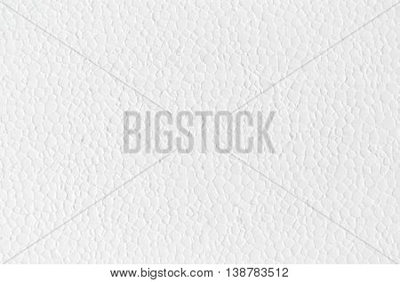 Polystyrene Close Cells Foam Flat Surface Texture