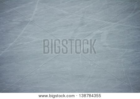 Scratches on the surface of the ice for iceskating