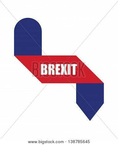 abstract origami design, brexit banners, vector illustraton