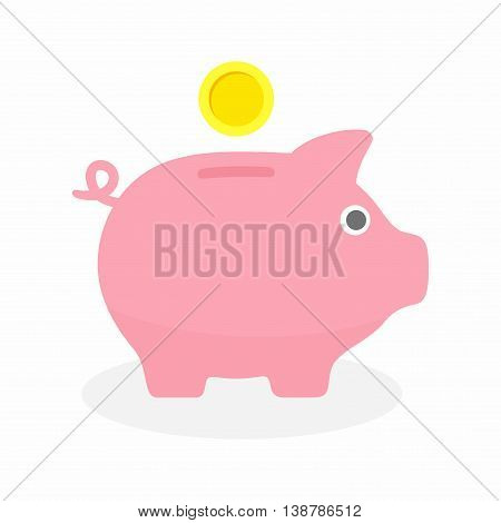Piggy bank, a coin container usually used by children.