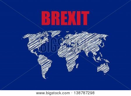 abstract brexit background with map, special vector design