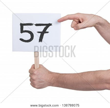 Sign With A Number, 57