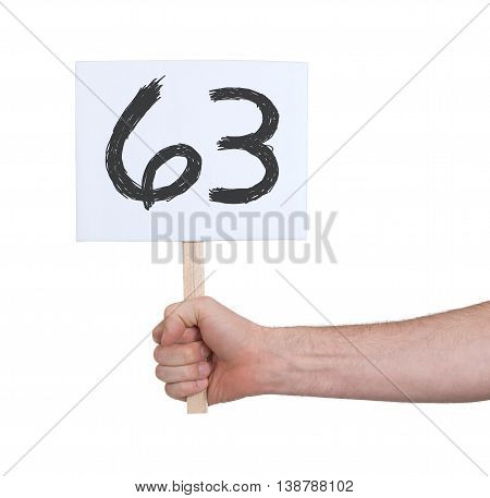 Sign With A Number, 63