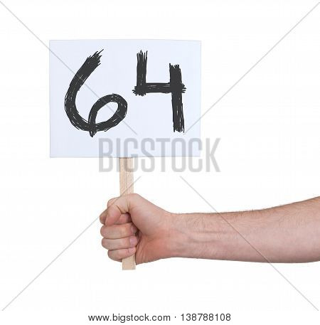 Sign With A Number, 64
