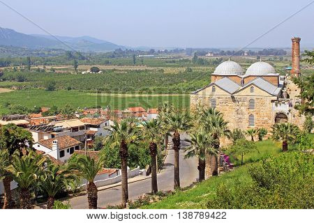 Isa Bey Mosque and town Selcuk in Turkey