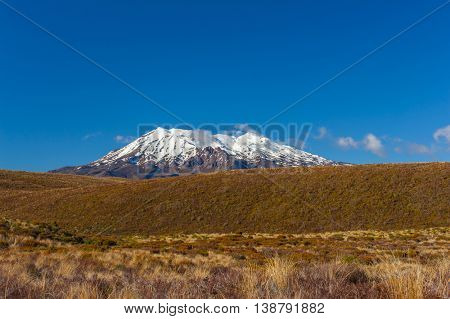 Mt. Ruapehu volcano, Tongariro Crossing National Park - New Zealand.