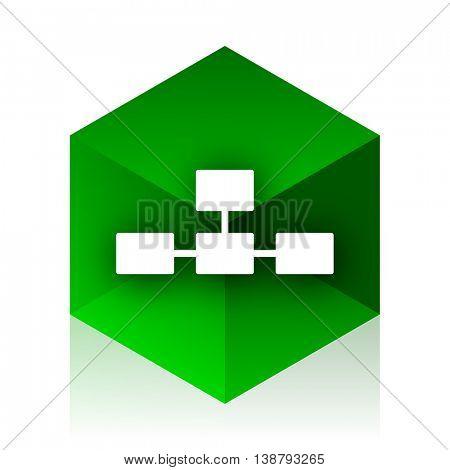 database cube icon, green modern design web element