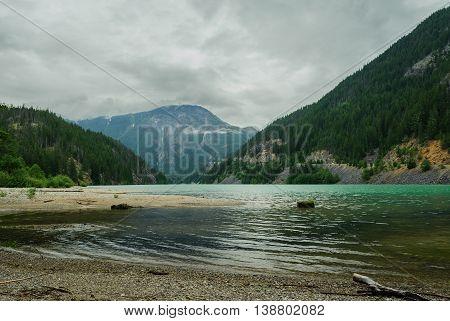 emerald Diablo Lake n North Cascades National Park Washington USA
