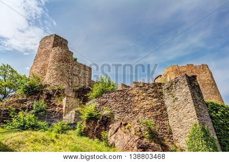 Ruined Castle In Frauenstein