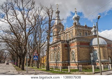 Apostolic Orthodox Transformation of Our Lord church in Parnu Estonia poster