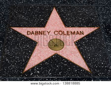 Dabney Coleman Star On The Hollwyood Walk Of Fame