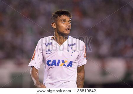 Rio de Janeiro Brazil - April 10 2016: Bruno Viana player in match between Fluminense and Cruzeiro by the Brazilian championship in the Giulite Coutinho Stadium