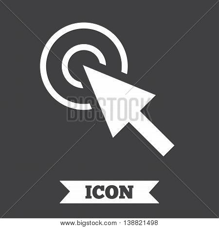 Mouse cursor sign icon. Pointer symbol. Graphic design element. Flat cursor symbol on dark background. Vector